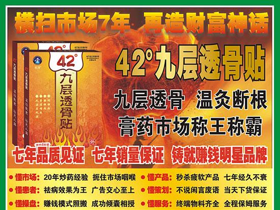 1168医药保健品网-【42°九层透骨贴】招商代理彩页