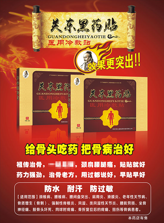1168医药保健品网-【关东黑药贴】招商代理彩页