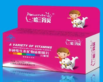 多种维生素矿物质咀嚼片儿童型