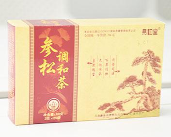 万松堂贴牌OEM草本参松调和茶三高松花粉正品厂家生产养生袋泡茶加工