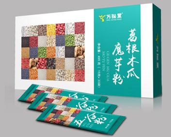 葛根木瓜魔芋粉外盒小袋组合OEM袋泡茶五谷粉厂家贴牌