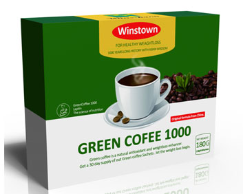 出口新版咖啡减肥排毒绿咖啡英文包装跨境电商国际站