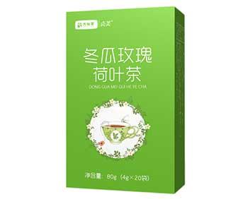 冬瓜玫瑰荷叶茶盒装版新品厂家直销万松堂减肥排毒瘦身