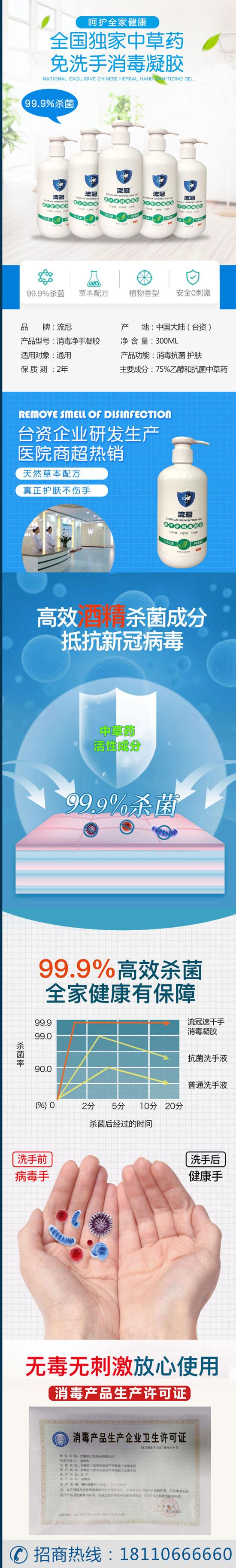 1168医药保健品网-【流冠速干手消毒凝胶】招商代理彩页