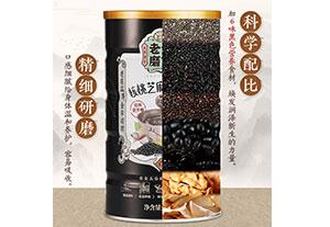 黑芝麻核桃黑豆粉熟桑葚黑米粉糊即食代餐粥