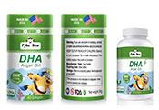 美国原装进口派克熊DHA藻油