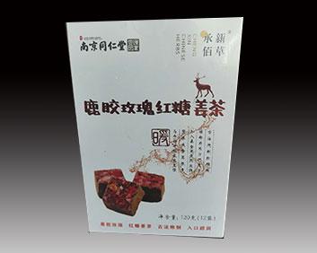 鹿胶玫瑰红糖姜茶