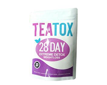 紫色teatox 28天排毒减肥茶出口瘦身袋泡茶