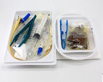 一次性医用导尿包无菌双腔硅胶尿管成人男女式 .